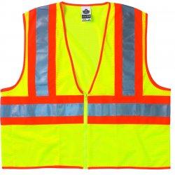 Ergodyne - 21295 - Ergodyne Large - X-Large Lime GloWear 8229Z Polyester/Mesh Vest