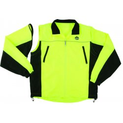 "Ergodyne - 24225 - Ergodyne X-Large Hi-Viz Green GloWear 8350 Light Weight Poly Pongee Class 2 Reversible Wind Jacket With Front Zipper Closure, 3M Scotchlite Comfort Trim 2"" Level 2 Reflective Tape, Removable Sleeves And Multiple Pockets"