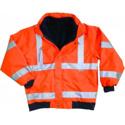 Ergodyne - 24487 - Ergodyne 3X Hi-Viz Orange GloWear 8380 Bomber Polyester Class 3 Weatherproof Jacket With Zipper, Storm Flap And Snap Closure, 3M Scotchlite Level 2 Reflective Tape, Inset Hood With Drawstring And Stoppers