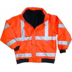 Ergodyne - 24489 - Ergodyne 5X Hi-Viz Orange GloWear 8380 Bomber Polyester Class 3 Weatherproof Jacket With Zipper, Storm Flap And Snap Closure, 3M Scotchlite Level 2 Reflective Tape, Inset Hood With Drawstring And Stoppers