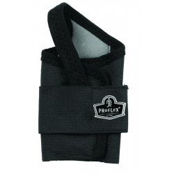 Ergodyne - 70008 - ProFlex Single Strap Wrist Support - Washable, Hook & Loop Closure - Black