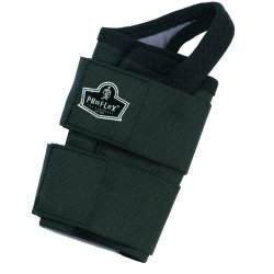 Ergodyne - 70034 - Ergodyne Medium Black ProFlex 4010 Elastic Double Strap Left Hand Wrist Support With Two-Stage Hook And Loop Closure And Open-Center Stay