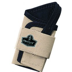 Ergodyne - 70112 - Ergodyne Small Tan ProFlex 4000 Elastic Single Strap Left Hand Wrist Support With Two-Stage Hook And Loop Closure And Open-Center Stay