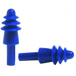 Howard Leight / Honeywell - DPAS-1 - 27dB Reusable Flanged Shape Ear Plugs&#x3b; Without Cord, Blue, Universal