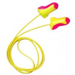 Howard Leight / Sperian / Honeywell - 154-LL-30 - 32dB Disposable Contoured Shape Ear Plugs&#x3b; Corded, Magenta/Yellow, Universal