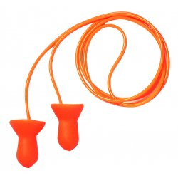 Howard Leight / Honeywell - QD30-RC - 26dB Reusable Bell-Shape Ear Plugs&#x3b; Corded, Orange, M