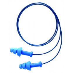 Howard Leight / Sperian / Honeywell - SDT-30 - 25dB Reusable Flanged Shape Ear Plugs&#x3b; Corded, Blue, Universal