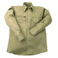 Lapco - LS-22-39XL - 10 Oz. Khaki Heavy Dutywork Shirt Neck Size 22