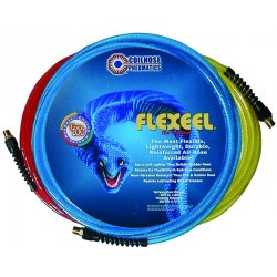 Coilhose Pneumatics - PFE40254T - Air Hose Straight 15 Ft Lx1/4 In Dia Blue Polyurethane Flexeel Coilhose Pneumatics, Ea