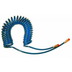 Coilhose Pneumatics - PR14-10B-B - Air Hose Recoil 10 Ft Lx1/4 In Dia Blue Polyurethane 125 Psi Coilhose Pneumatics, Ea