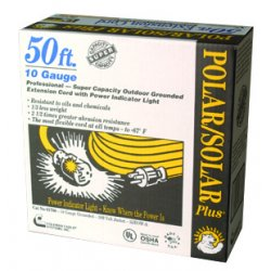 Southwire - 1788SW0002 - Southwire 1788SW0002 50' Polar / Solar Standard Extension Cord - 10 Ga. / 3 Conductor / Yellow (4 Pack)