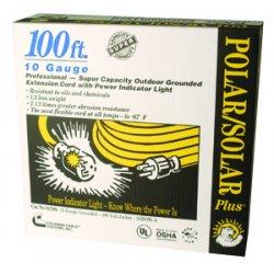 Southwire - 01789 - 100' Yel Polar/solar Plus Exy. Cord 10/3 Sjeow-