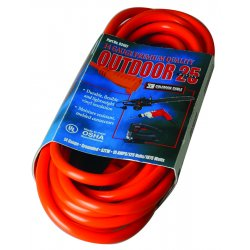 Southwire - 02407 - 25' 14/3 Sjtw-a Red Extcord 125v