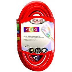 Southwire - 02549-88-41 - 12/3 Sjtw 100' Ext Cordlighted Ends Red/white