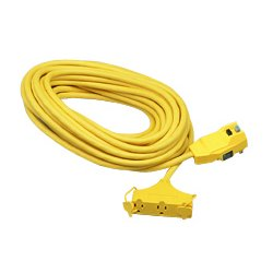 Coleman Cable - 172-02837 - Ground Fault Circuit Interrupter Cord Set, 25 Feet, Yellow
