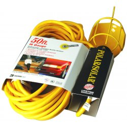 Southwire - 05658 - 50' Yellow Polar/solar Trouble Light W/metal Gua