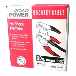 Southwire - 08760 - 20' 500amp 4ga. Black Booster Cable W/ Hd Parro