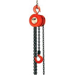 Columbus McKinnon - 2217 - 622 1ton 12'lift W/10'hand Chain Hoist, Ea