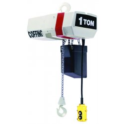 Coffing Hoists - EC-V2016-3-15 - Elec Chain Hoist W/ Variable Spd- 1 Ton 15ft Cha