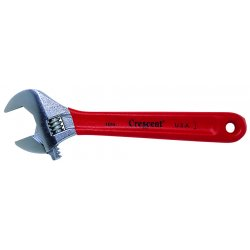 Cooper Tools / Crescent - AC18C - 8' Adjustable Wrench with Red Vinyl Grip, 1-1/16' Capacity