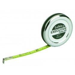 Apex Tool - W606 - Measuring Tape Executive Thinline 1/4 Inx6 Ft L Cooper Tools Lufkin, Ea