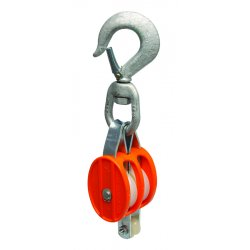 "Apex Tool - 7222214 - 3102 Double 2"" Nylon Block- Loose Swivel Hook"