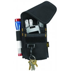 "CLC (Custom Leather Craft) - 1104 - Multipurpose Tool Holder, Black Polyester, 7-1/4"" Height, 3"" Width, 1"" Depth"