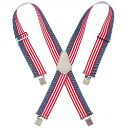 "CLC (Custom Leather Craft) - 110USA - Red-white-& Blue 2"" Widework Suspenders"
