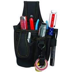 "CLC (Custom Leather Craft) - 1501 - Tool and Cell Phone Holder, Black Polyester, 9-3/4"" Height, 6"" Width, 2"" Depth"