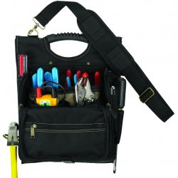 CLC (Custom Leather Craft) - 1509 - CLC Carrying Case (Pouch) for Tools - Black - Polyester - Handle, Shoulder Strap