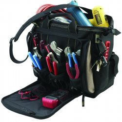 "CLC (Custom Leather Craft) - 1537 - 13"" Multi-compartment Tool Carrier"
