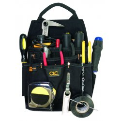 CLC (Custom Leather Craft) - 5505 - Black Electricians Tool Pouch, Ballistic Polyester, Fits Belts Up To (In.): 2-3/4