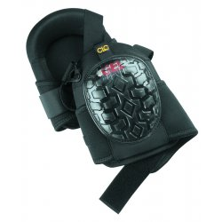 CLC (Custom Leather Craft) - G340 - Stabilizer 2-Strap Knee Pads, Black