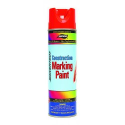 Aervoe - 258 - Hi-vis Yellow 20 Oz Water Based Marking Paint, Ea