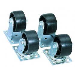 Jobox - 1-320990 - Jobox 5 X 2 X 4 Black Steel Heavy Duty Pre-Tapped Caster Se, ( Each )