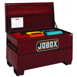 "Jobox - 1-655990D - Jobox Jobsite 19.3 cu ft 60"" X 24"" X 27 3/4"" Brown Steel Heavy Duty On-Site Chest With Site-Vault Security Syste, ( Each )"