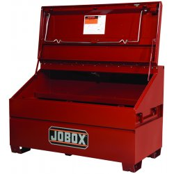"Jobox - 1-680990 - 39-1/2"" x 30"" x 60"" Jobsite Chest, 32.7 cu. ft., Brown"