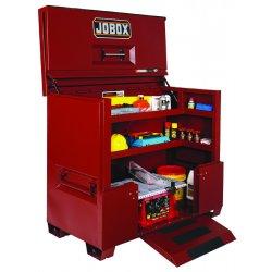 "Jobox - 1-684990 - 50"" x 30"" x 74"" Jobsite Piano Box, 56.5 cu. ft., Brown"