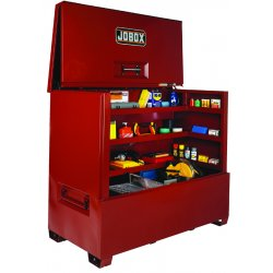 "Jobox - 1-685990 - 60-1/4"" x 35-1/2"" x 74-1/2"" Jobsite Piano Box, 85.7 cu. ft., Red"