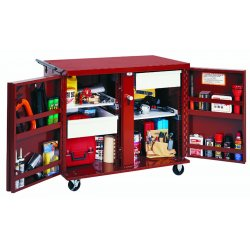 "Jobox - 676990 - Mobile Cabinet Workbench, Steel, 26-7/8"" Depth, 38-1/2"" Height, 43-7/8"" Width"