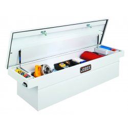 Jobox - JSC1394980 - Steel Crossover Truck Box, White, Single, 10.7 cu. ft.
