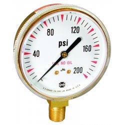 Ametek U.S. Gauge - 166364A - 400 PSI Welding & Compressed Gas Gauge, EA