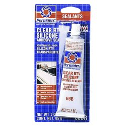 Permatex - 80050 - Multipurpose Clear RTV Silicone Sealant, 3 oz.