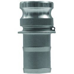 Dixon Valve - G100-E-BR - Forged Brass Adapter, Coupling Type E, Male Adapter x Hose Shank Connection Type