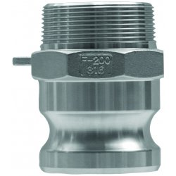 Dixon Valve - G200-F-BR - Forged Brass Adapter, Coupling Type F, Male Adapter x MNPT Connection Type