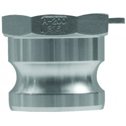 "Dixon Valve - G250-A-AL - 2 1/2"" Aluminum Type A Global Adapter"