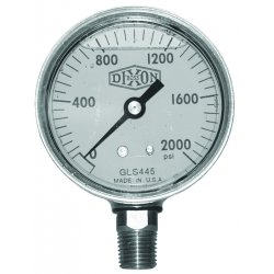 Dixon Valve - GLBR100 - 2 1/2 Brass Lm 0-100psi, Ea