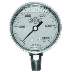 Dixon Valve - GLBR1500 - 2 1/2 Brass Lm 0-1500psi, Ea