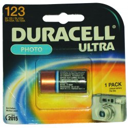 Duracell - DL123AB2PK - 3.0 Volt Lithium Battery(2 Batteries/cd), Ea