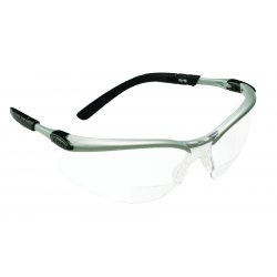 AO Safety - 11375-00000-20 - Bx Reader Silver/black Frame Clear Lens 2.0 Diop